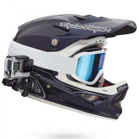Soporte Frontal Y Lateral Casco Gopro - Full Technology