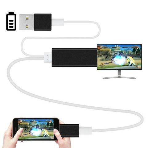 CABLE PARA IPHONE/MICROUSB/TIPO C ---> A HDMI
