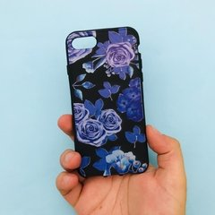 Funda TPU Negra Floral - iPhone - Full Technology
