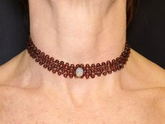 Carol Choker golden crystals and opaline