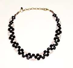 Victoria Choker black and pink crystals on internet