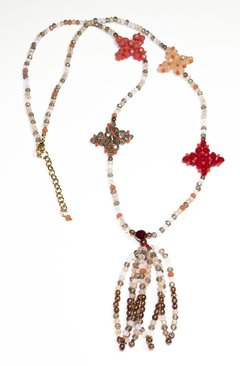 Multicolor Barroco necklace, Czech crystals and porcelain