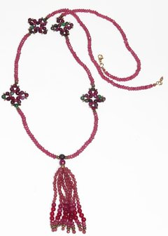 Barroco Necklace Pink Jade