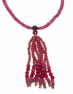 Barroco Necklace Pink Jade - buy online