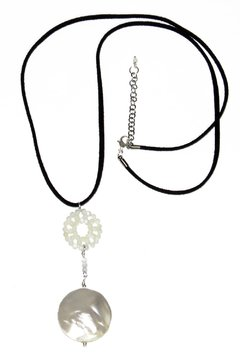 Bubble Necklace with double mother os pearl pendant
