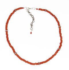 Happy Choker on coral jade briolet