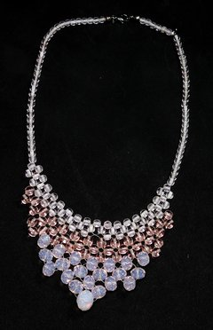 Queen necklace Czech crystal and porcelain