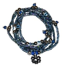 Necklace/bracelet Sorte Zodiac Signs -  Aquarius (Lapis lazuli)