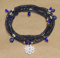Sorte Necklace / bracelet blueish graphite