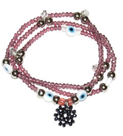Short Necklace/Bracelet sorte zodiac signs - Taurus (pink quartz)