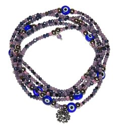 Necklace/Bracelet Sorte with purple and lilac crystals and amethists