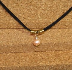Trítono Necklace pink pearls, white pearls and pink quartz. on internet