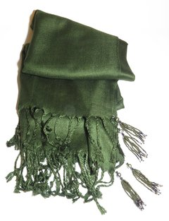 Pashmina Verde com Tassels on internet