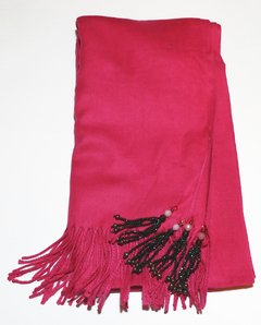 Pink Pashmina withTassels on internet