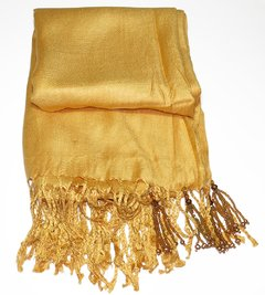 Golden Pashmina with Tassels