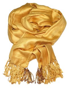 Golden Pashmina with Tassels - online store