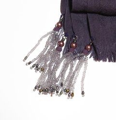 Image of Merlot Pashmina with Tassels