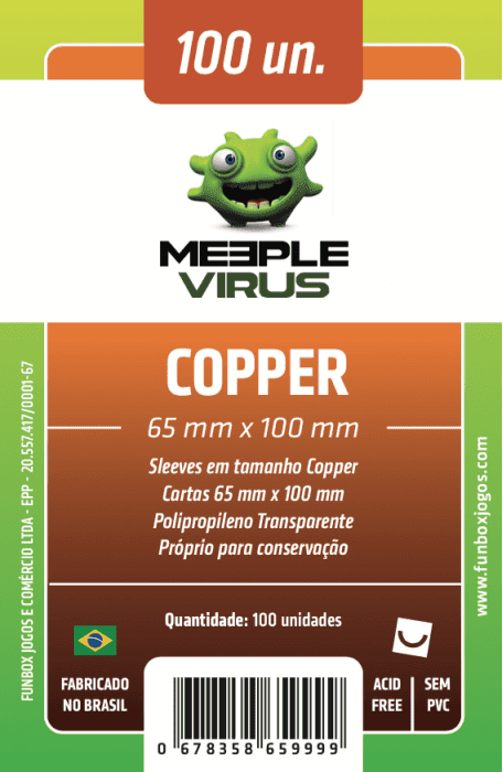 SLEEVE COPPER (65 X 100 mm) MEEPLE VIRUS - 100 unidades