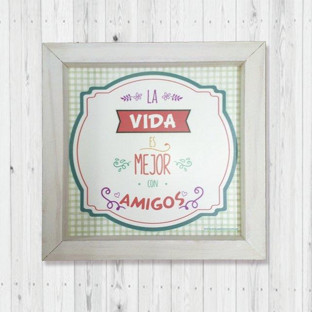 Cuadro Vintage Con Frases Día Del Amigo