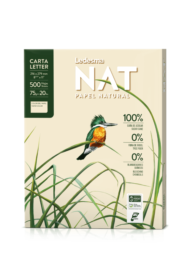 RESMA CARTA LEDESMA NAT, PAPEL NATURAL 100% CAÑA DE AZÚCAR C:104391