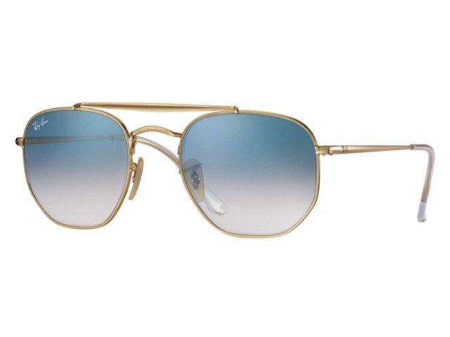 55b033d3670ae Ray-Ban RB3648 001 3F Marshal - Dourado   Azul Degradê