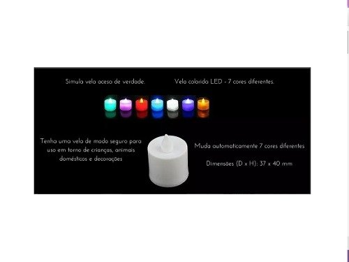 20 Mini Velas De Led Decorativas - Baterias Inclusas - Liberdade Online