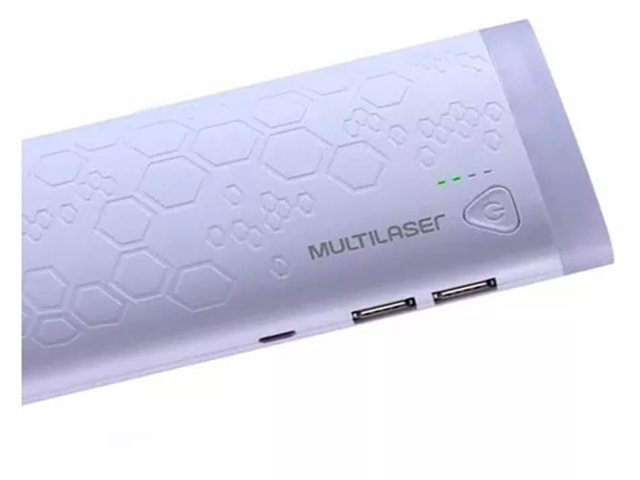 Carregador Portátil Power Bank 10.000 Mah 2 Portas Usb Multilaser - CB112