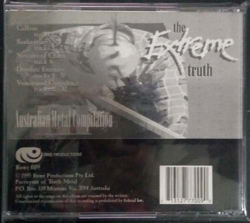 Australian Metal Compilation III - The Extreme Truth (1995) Ultra RARO - comprar online