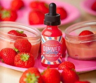 Juice - Dinner Lady - Strawberry Custard - 60ml