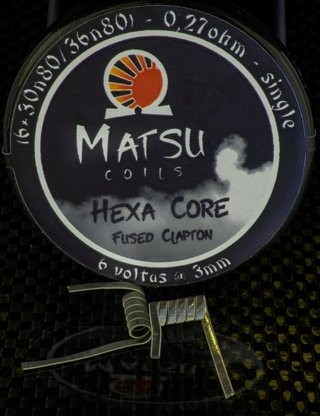 Coil - Matsu Coil - Hexa Core Fused Clapton -  (6*30N80/36N80 - 0.26ohm - Single)