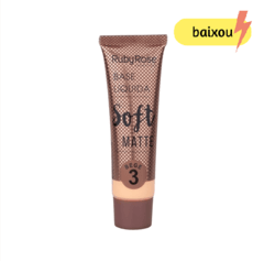 Base líquida soft matte - Ruby Rose - Bege 3