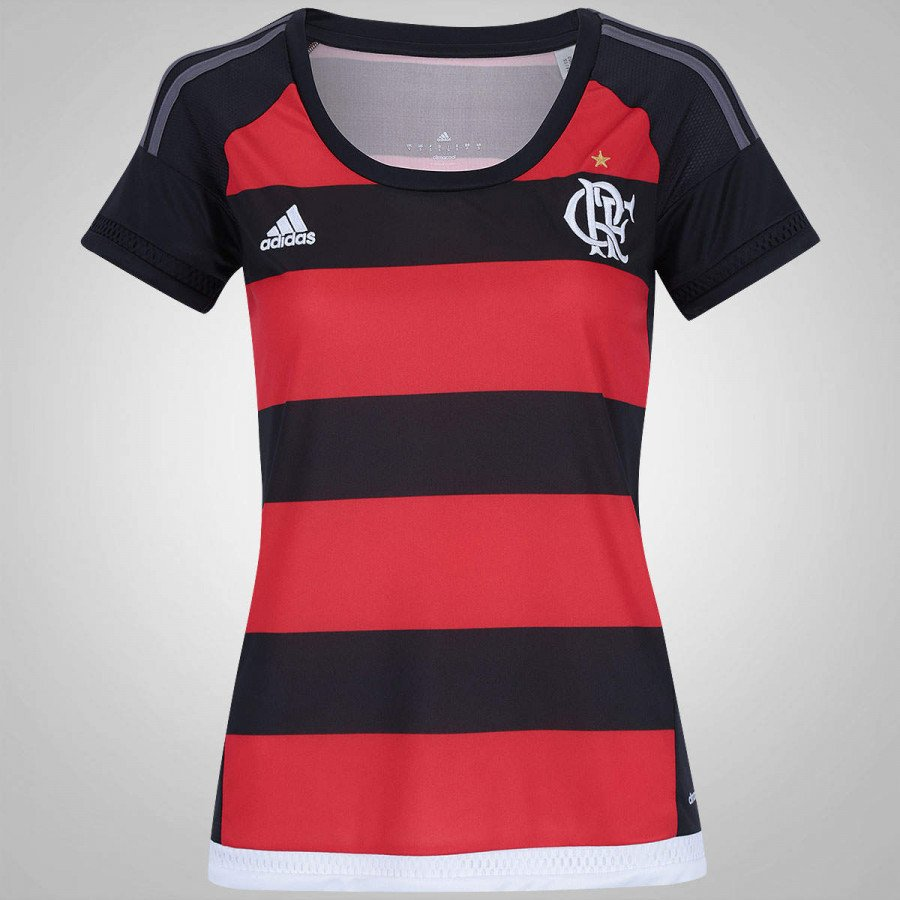 Camisa Adidas Flamengo Feminina a265448db7254