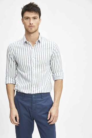 CAMISA STRIPES LINEN en internet