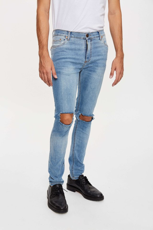 JEAN SKINNY BROKEN LIGHTBLUE