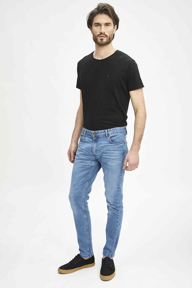 JEAN SLIM FIT BLUE BLACK - Airborn