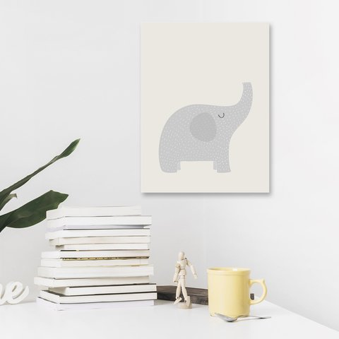Placa Decor - Elefante Escandinavo