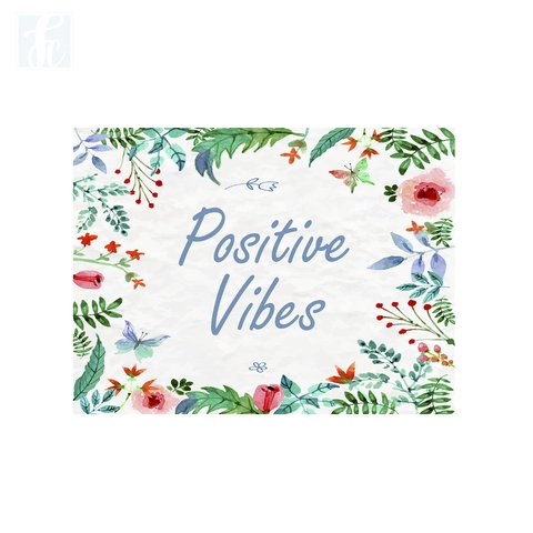 Placa Decor Frases - Positives Vibes - comprar online