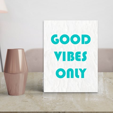 Placa Decor Frases - Good Vibes Only