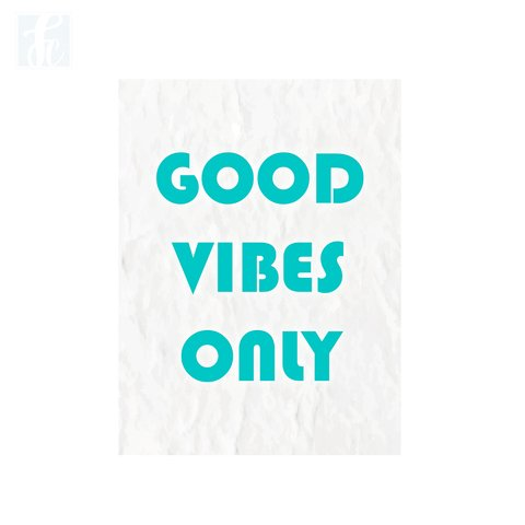Placa Decor Frases - Good Vibes Only - comprar online