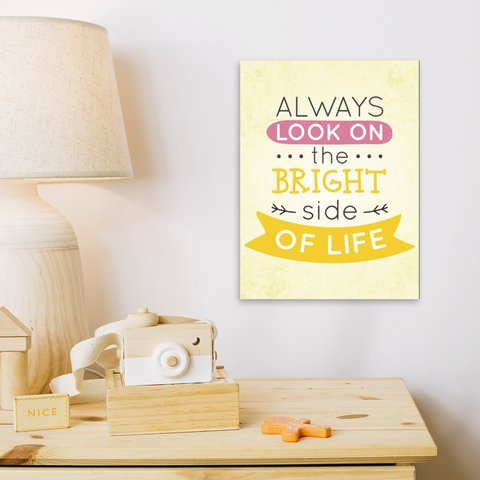 Placa Decor Frases - Bright Side Of Life