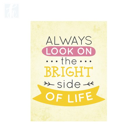 Placa Decor Frases - Bright Side Of Life - comprar online