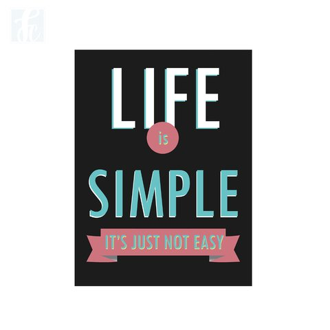 Placa Decor Frases - Life Is Simple - comprar online