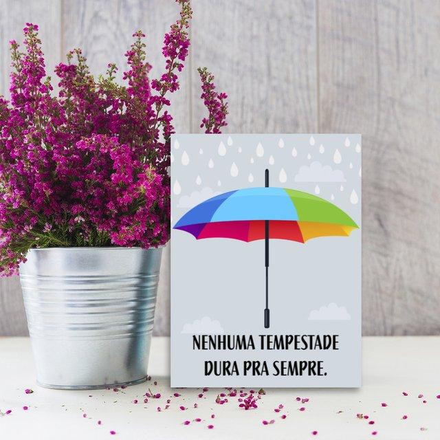 Placa Decor Frases Tempestade