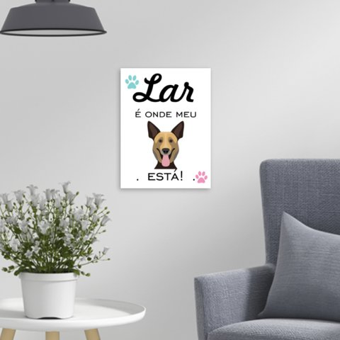 Placa Decorativa Pet - Cachorro