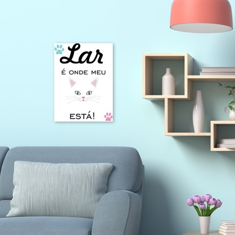 Placa Decorativa Pet - Gato