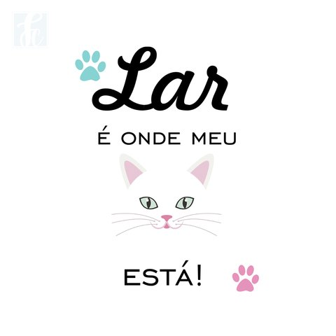 Placa Decorativa Pet - Gato - comprar online