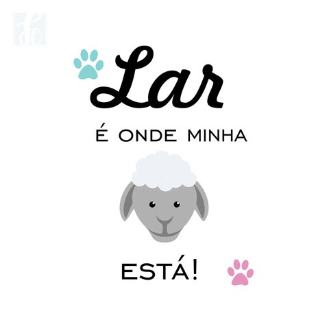 Placa Decorativa Pet - Ovelha - comprar online