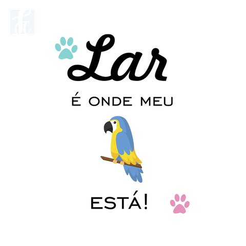 Placa Decorativa Pet - Arara Azul - comprar online