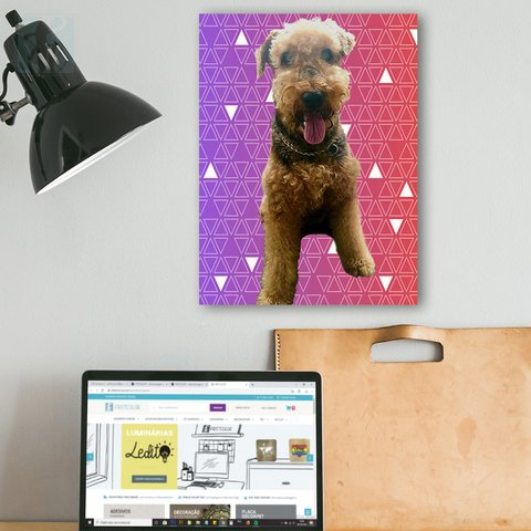 Placa Decor Pet Personalizada - Mini Triângulos - comprar online