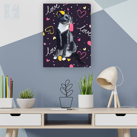 Placa Decor Pet Personalizada - Love - comprar online